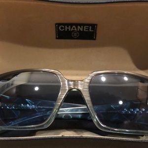 Chanel Sunglasses Vintage w/Blue Lenses